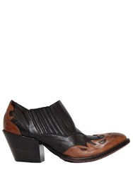 Elena Iachi 50Mm Cowboy Pull On Leather Ankle Boots