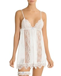 Jonquil In Bloom By Chemise And Garter Belt Set Ivory