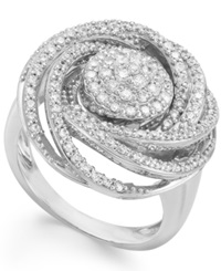 Wrapped In Love Diamond Ring Sterling Silver Diamond Pave Ring 1 Ct. T.W.