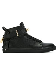 Buscemi Clasp Detail Lace Up Sneakers Black