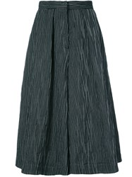 Co Flared Culotte Trousers Black