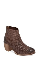 Seychelles Women's Army Snake Textured Bootie
