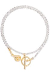 Charlotte Chesnais Halo Silver And Gold Tone Necklace One Size