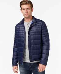 Kenneth Cole Quilted Puffer Hipster Jacket Midnight