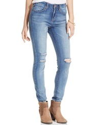 American Rag Ripped Skinny Jeans True Blue Wash Only At Macy's Becky Wash