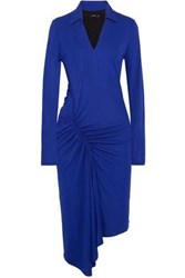 Atlein Ruched Stretch Jersey Dress Royal Blue