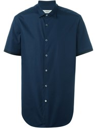 Pringle Of Scotland Shortsleeved Shirt Blue