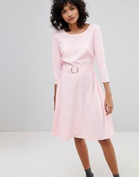 2Nd Day Ring Belted Midi Dress Pink