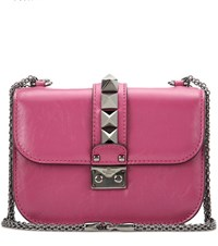 Valentino Lock Small Leather Shoulder Bag Purple