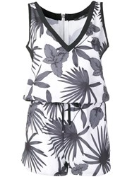 Liu Jo Relaxed Summer Playsuit White