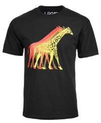 Lrg Co. Giraffe Logo Print T Shirt Black