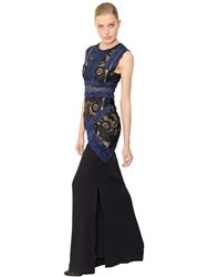 Antonio Berardi Macrame Lace And Cady Dress