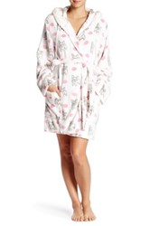 Pj Salvage Gift Kisses Faux Fur Trim Robe Beige
