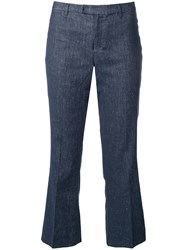 Max Mara Cropped Low Rise Jeans Blue