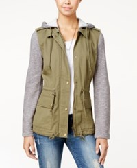 American Rag Knit Trim Hooded Anorak Jacket Only At Macy's Sage