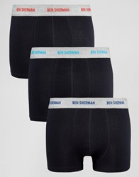 Ben Sherman 3 Pack Boxers Black