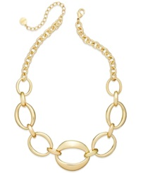 Alfani Oval Chain Frontal Necklace Gold