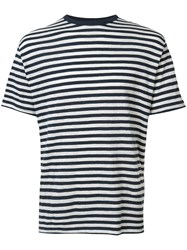 Officine Generale Breton Stripe T Shirt Black