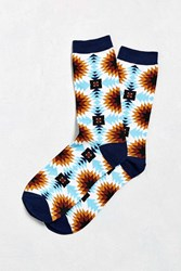 Urban Outfitters Southwest Mosaic Sock Blue