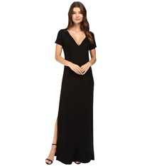 Lanston Caftan Maxi Shirtdress Black Women's Dress