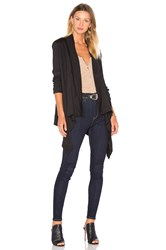 Bobi Light Weight Jersey Long Sleeve Cardigan Black