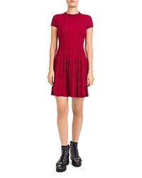 The Kooples Jacquard Knit Dress Red