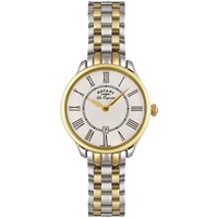 Rotary Lb02916 06 Women's Elise Two Tone Bracelet Strap Watch Silver Gold