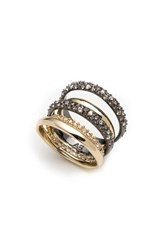 Alexis Bittar Pave Stack Ring Gold