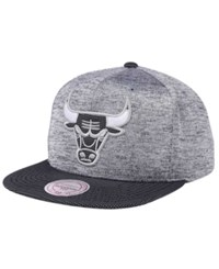 Mitchell And Ness Chicago Bulls Space Knit Snapback Cap Gray