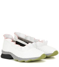 Fendi Waves Leather Sneakers White