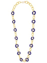 Kenneth Jay Lane Knotted Necklace Gold