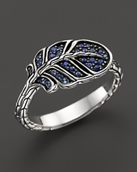 John Hardy Classic Chain Silver Lava Slim Feather Ring With Mixed Blue Sapphire Bloomingdale's Exclusive Silver Blue