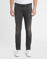 Diesel Faded Black Sleenker Slim Jeans