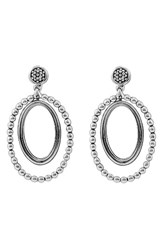 Lagos Women's Caviar Oval Twist Earrings