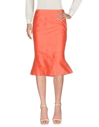 Gossip 3 4 Length Skirts Coral