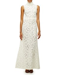Camilla And Marc Sleeveless High Neck Lace A Line Gown Women's White