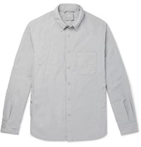 Aspesi Slim Fit Garment Dyed Shell Overshirt Gray