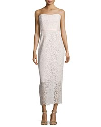 Shoshanna Strapless Sweetheart Lace Gown Blush Pink Women's
