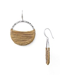Robert Lee Morris Soho Wire Wrap Hoop Earrings Gold Silver