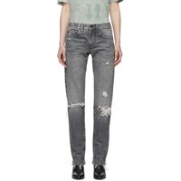 Saint Laurent Grey Boyfriend Jeans