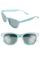 66c86f7a48 Lilly Pulitzer Maddie 52Mm Polarized Mirrored Sunglasses Catch The Wave  Green Catch The Wave Green