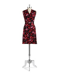 Jones New York Petites Petite Butterfly Floral Wrap Dress Azalea Multi