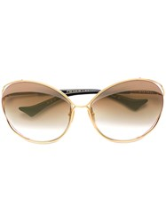 Dita Eyewear Gradient Sunglasses Metallic