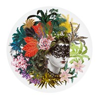 Christian Lacroix Love Who You Want Charger Plate Mamzelle Scarlet