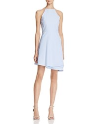 J.O.A. Joa Folded Skirt Fit And Flare Dress Blue