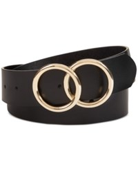 Inc International Concepts I.N.C. Double Circle Belt Created For Macy's Black Gold