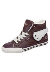 Kappa Baron Hightop Trainers Brown Offwhite