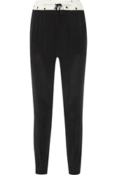 Band Of Outsiders Washed Silk Tapered Pants