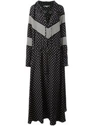 Stella Mccartney Striped Dot Maxi Dress Black