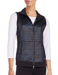 New Balance Quilted Zip Front Vest Blue